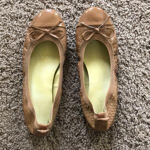 Camel Ballet Flats